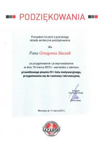 Uczelnia Łazarskiego  - Szkolenia dla studentów
