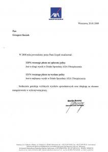 Referencje - Axa - sukcesy w zarzadzaniu zespołem